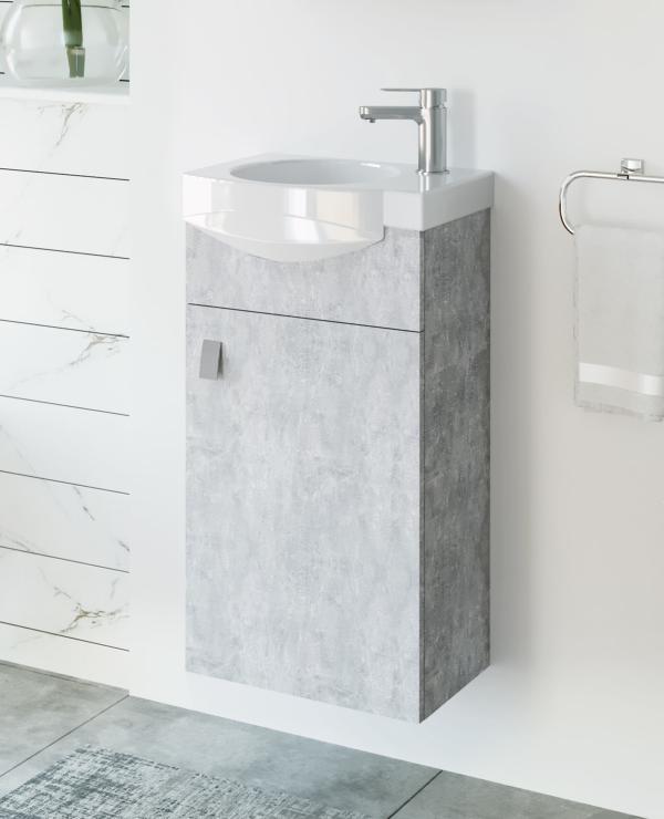 Waschtischunterschrank 40cm (Beton)