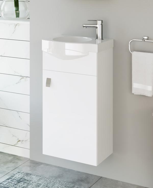 Waschtischunterschrank 40cm (Weiß)