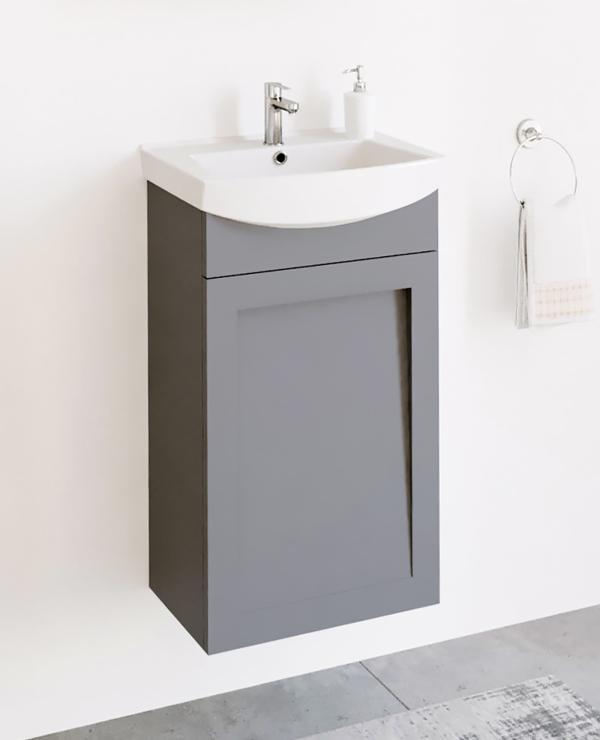 Waschtischunterschrank 45cm (Grau matt)