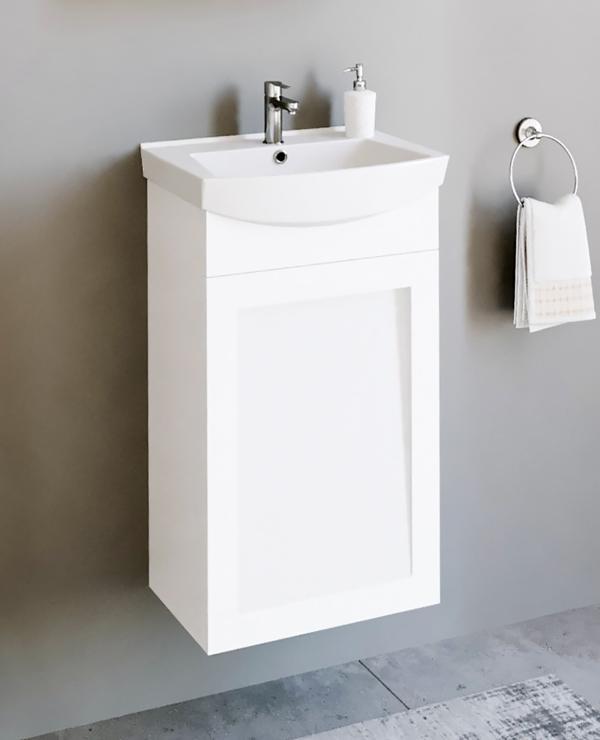 Waschtischunterschrank 45cm (Weiß matt)