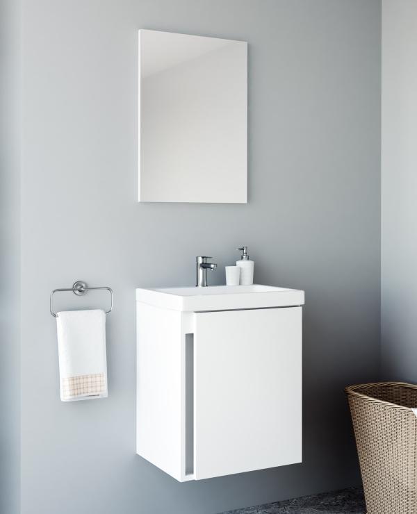 Badmöbel-Set mit Spiegel 50cm (Weiß)